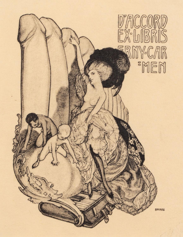 Exlibris erotyczny (Erny Carmen)