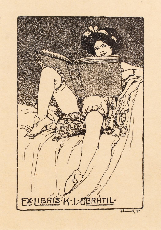 Exlibris erotyczny (K.J. Obratil)