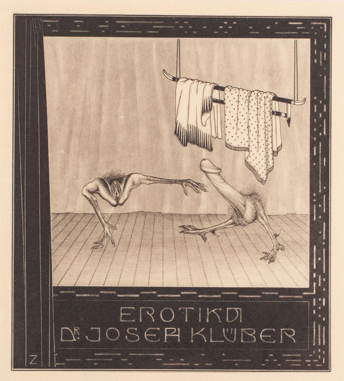 Exlibris erotyczny (Dr. Joseph Klüber)