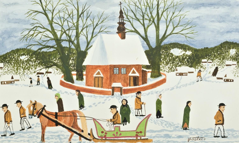 Zimą po mszy