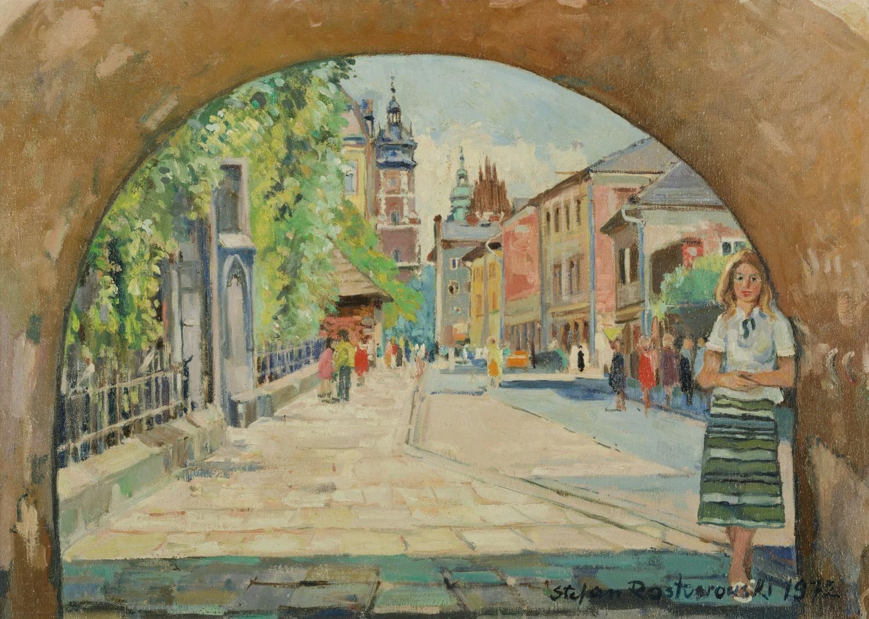 Kraków - widok na kościół Bożego Ciała od strony ulicy Krakowskiej, 1972