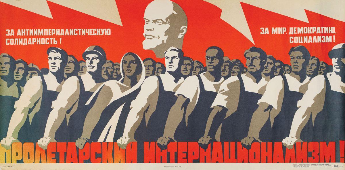 """5 PLAKATÓW PROPAGANDOWYCH, ZSRR, Moskwa, Wydawnictwo """"Plakat"""""""