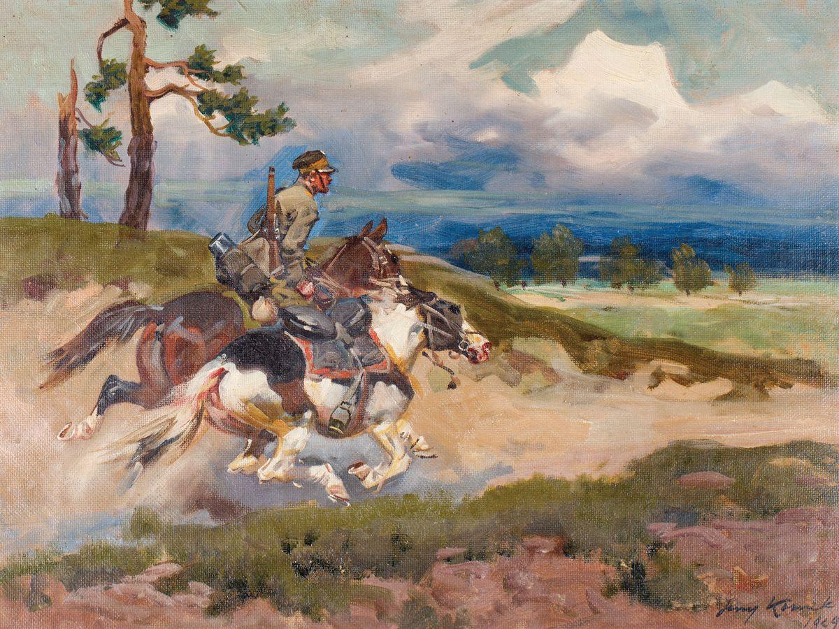 UŁAN II RP Z LUZAKIEM, 1929