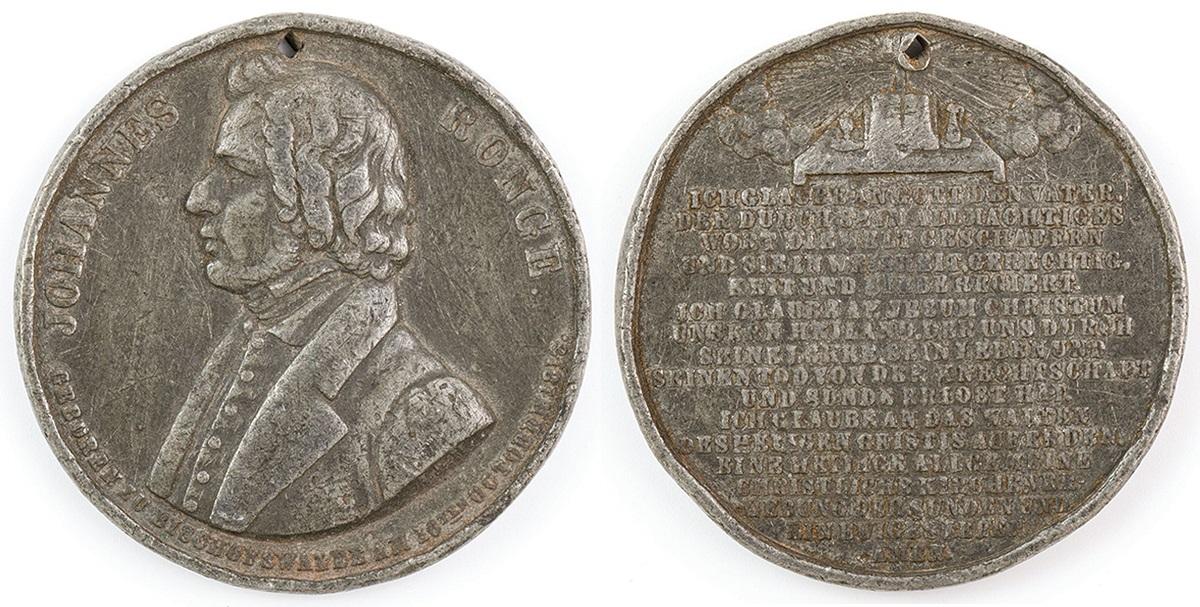 MEDAL KU CZCI JOHANNESA RONGEGO, 1845
