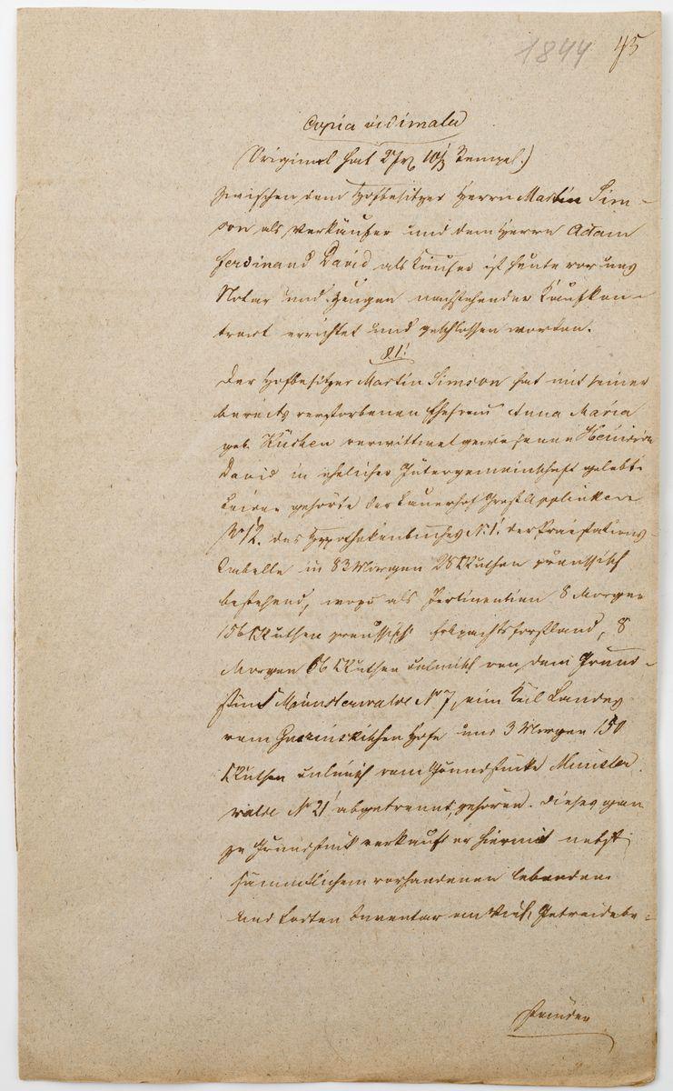 DOKUMENT, Neuenburg (ob. Nowogródek pomorski), 8.03.1844