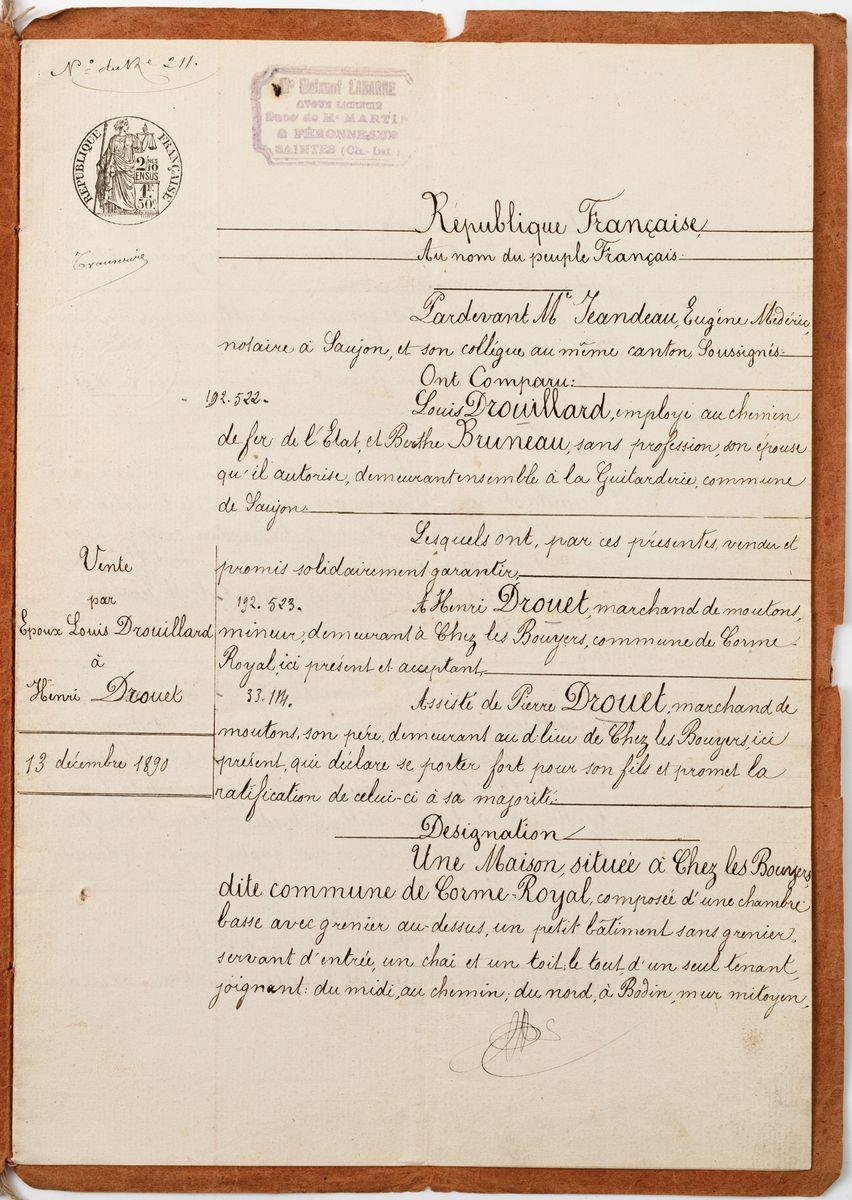 UMOWA SPRZEDAŻY DOMU, 13.10.1890