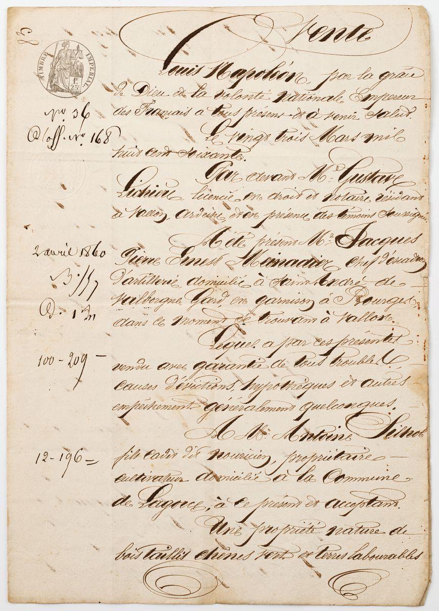 DOKUMENT, Francja, Bourges, 23.03.1870
