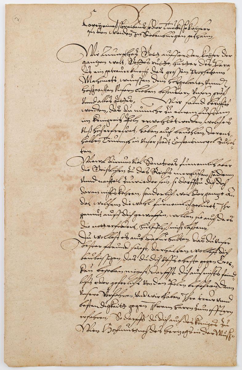 LIST SUŁTANA TURECKIEGO MURADA III DO STEFANA BATOREGO, Stambuł, 28.12.1575 r.