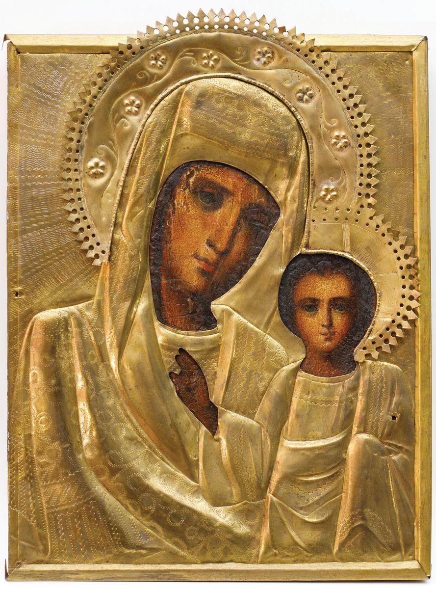 IKONA MATKI BOŻEJ KAZAŃSKIEJ, Rosja, 2 poł. XIX w.