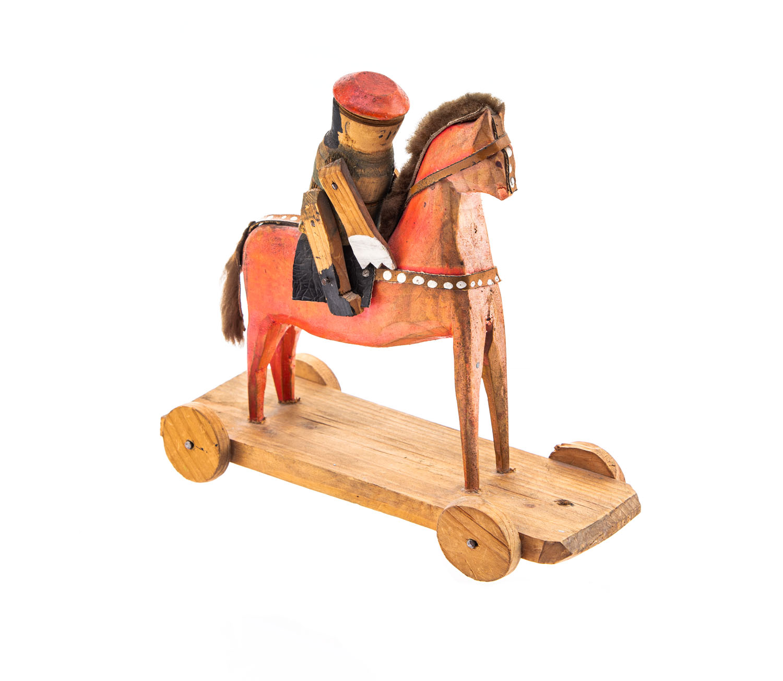 Zabawka ludowa - Jeździec na koniu, 1967