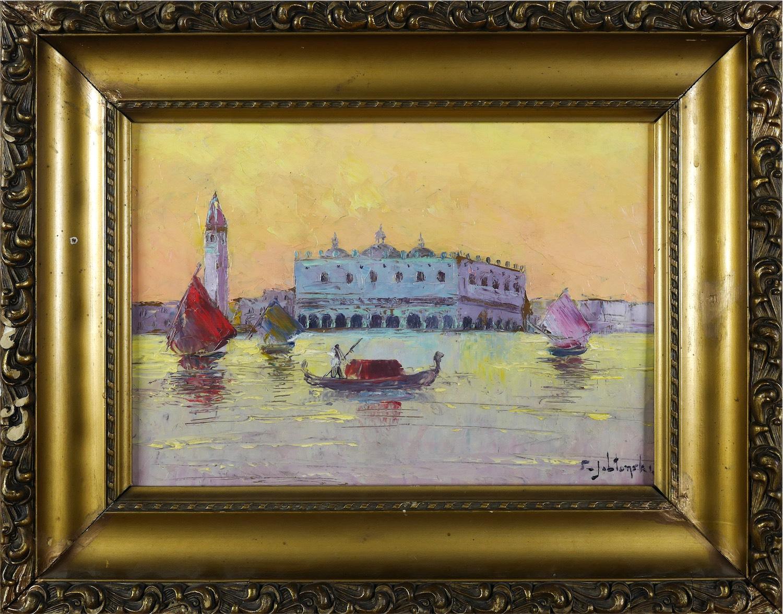 Widok na Pałac Dożów w Wenecji, ok 1925 - 30 r.