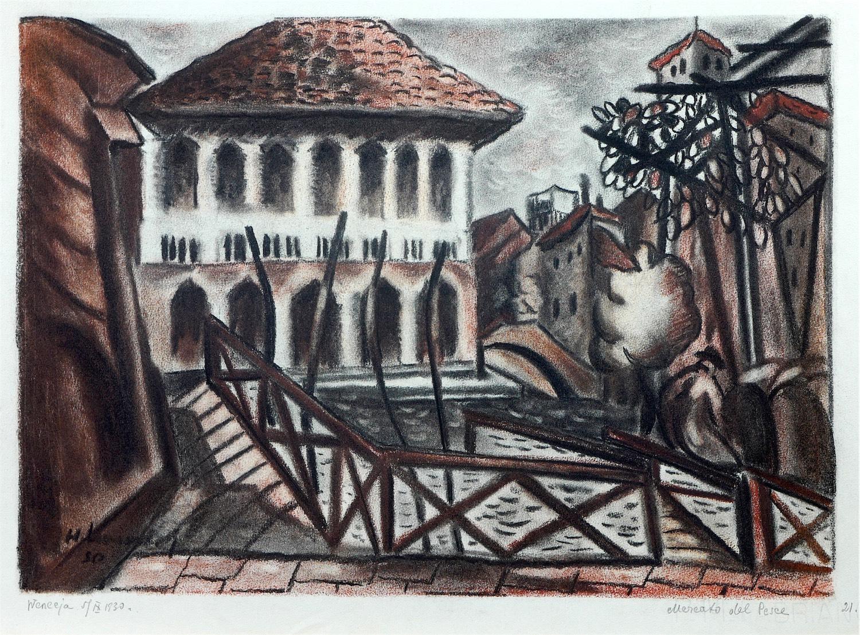 Mercato del pesce - targ rybny w Wenecji, 1930 r.
