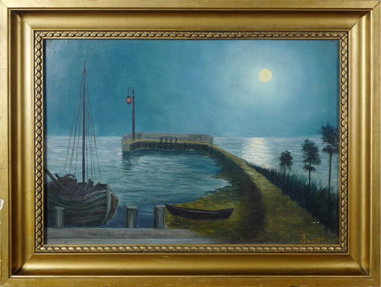 Jastarnia nocą, 1933 r.