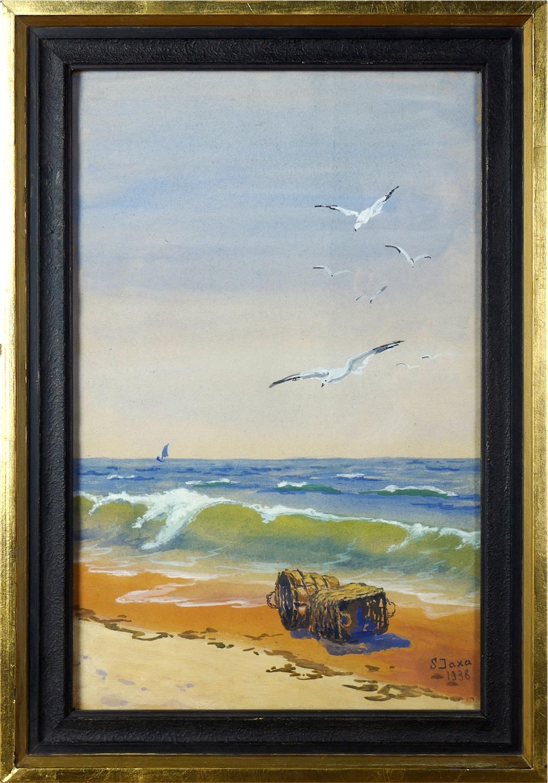 Kosze na brzegu morza, 1938 r.
