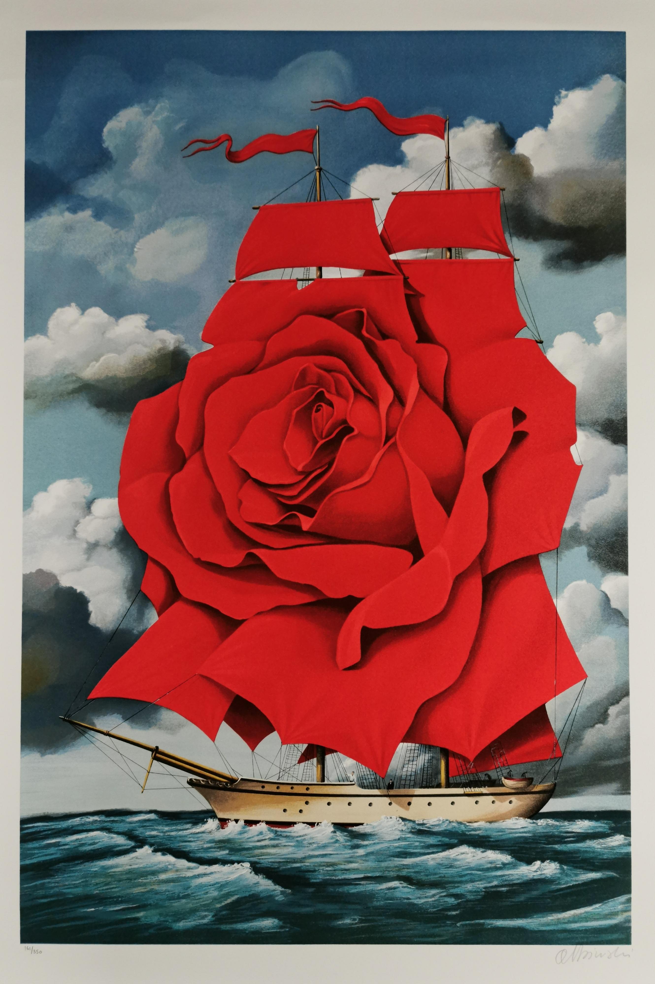 Statek czerwonej róży
