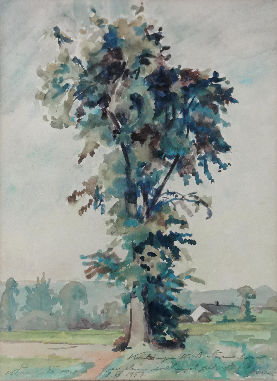 Pejzaż z drzewem, 1947