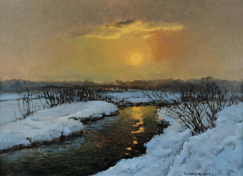 Zachód słońca z rzeką