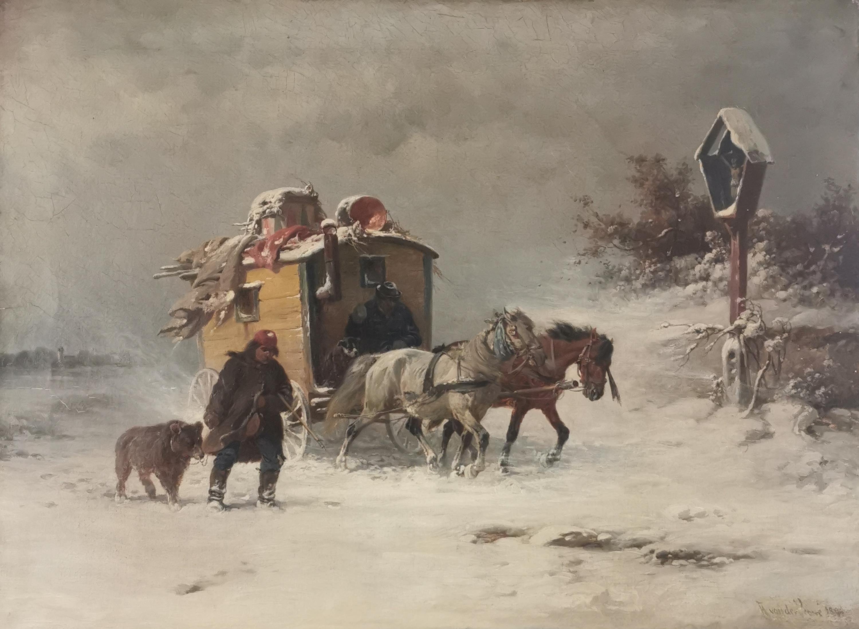 Kuglarze w drodze w zimowy dzień, 1898