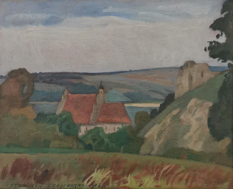 Kazimierz - Widok na farę i ruiny zamku