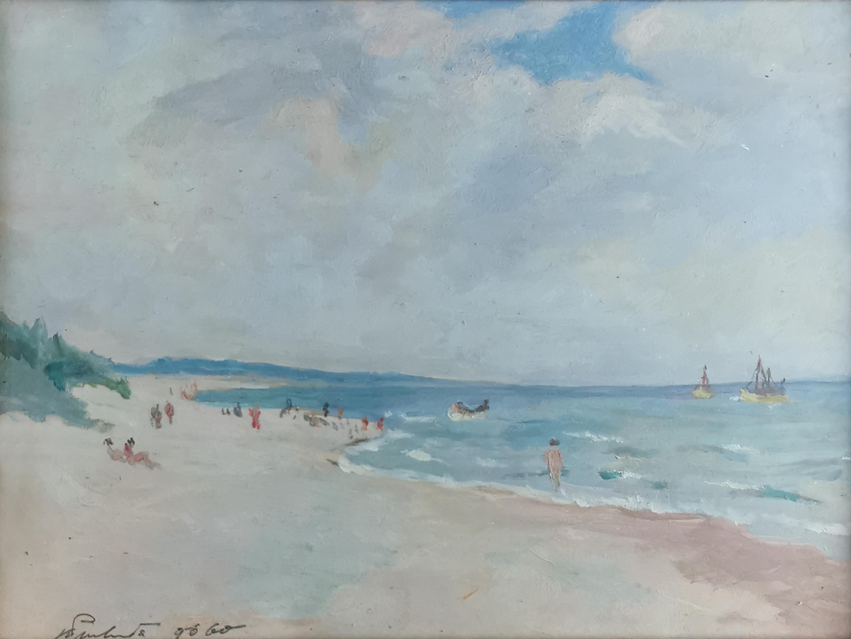 Plaża w Darłówku, 1960