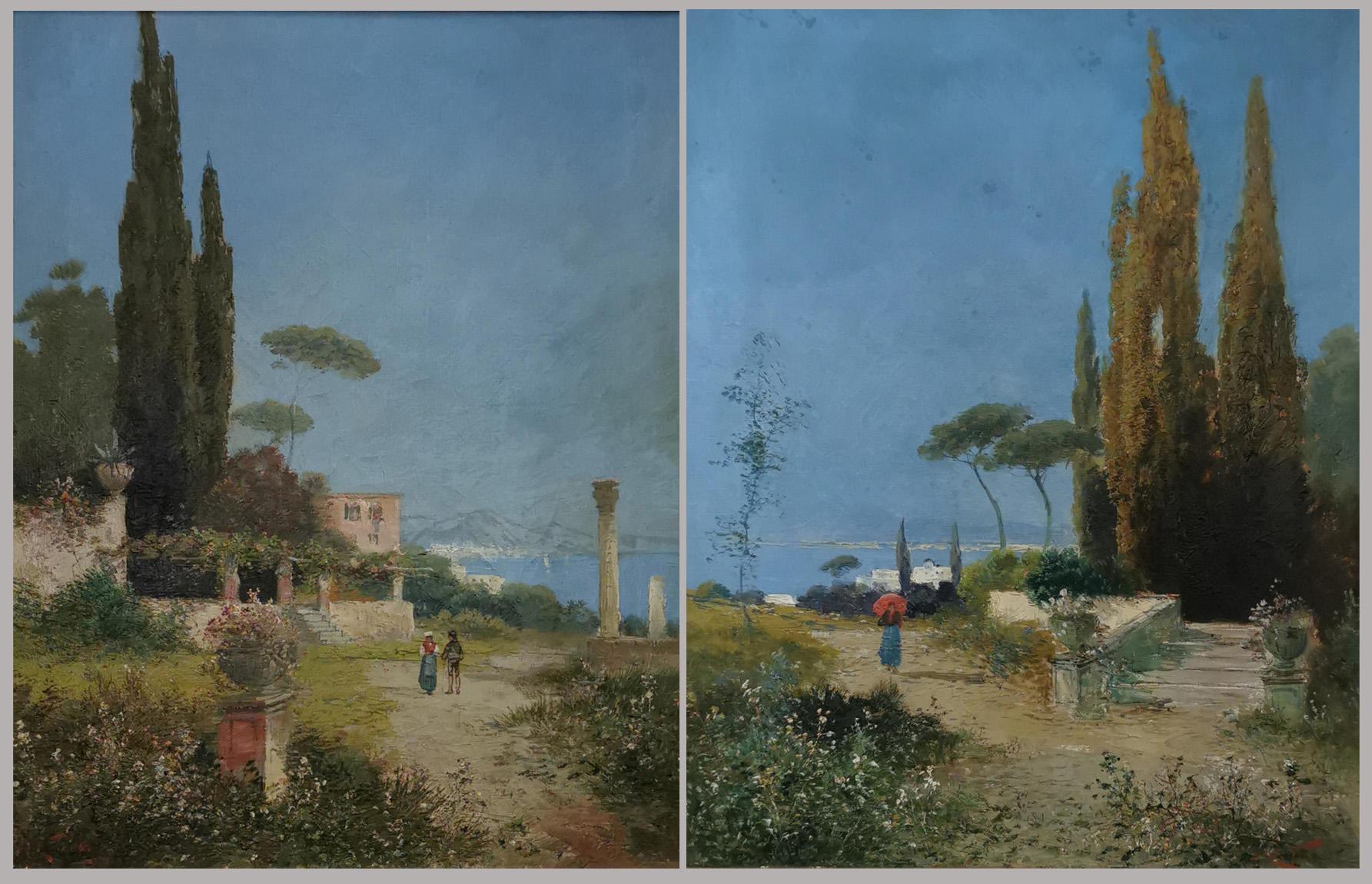 Para obrazów - pejzaże włoskie