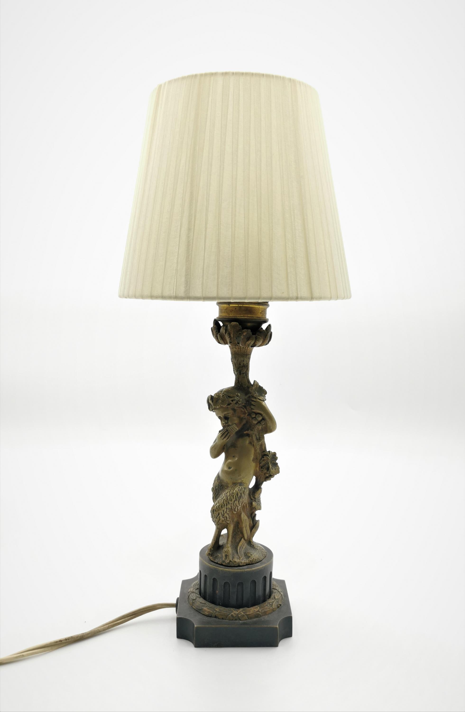 Lampa buduarowa z postacią Fauna