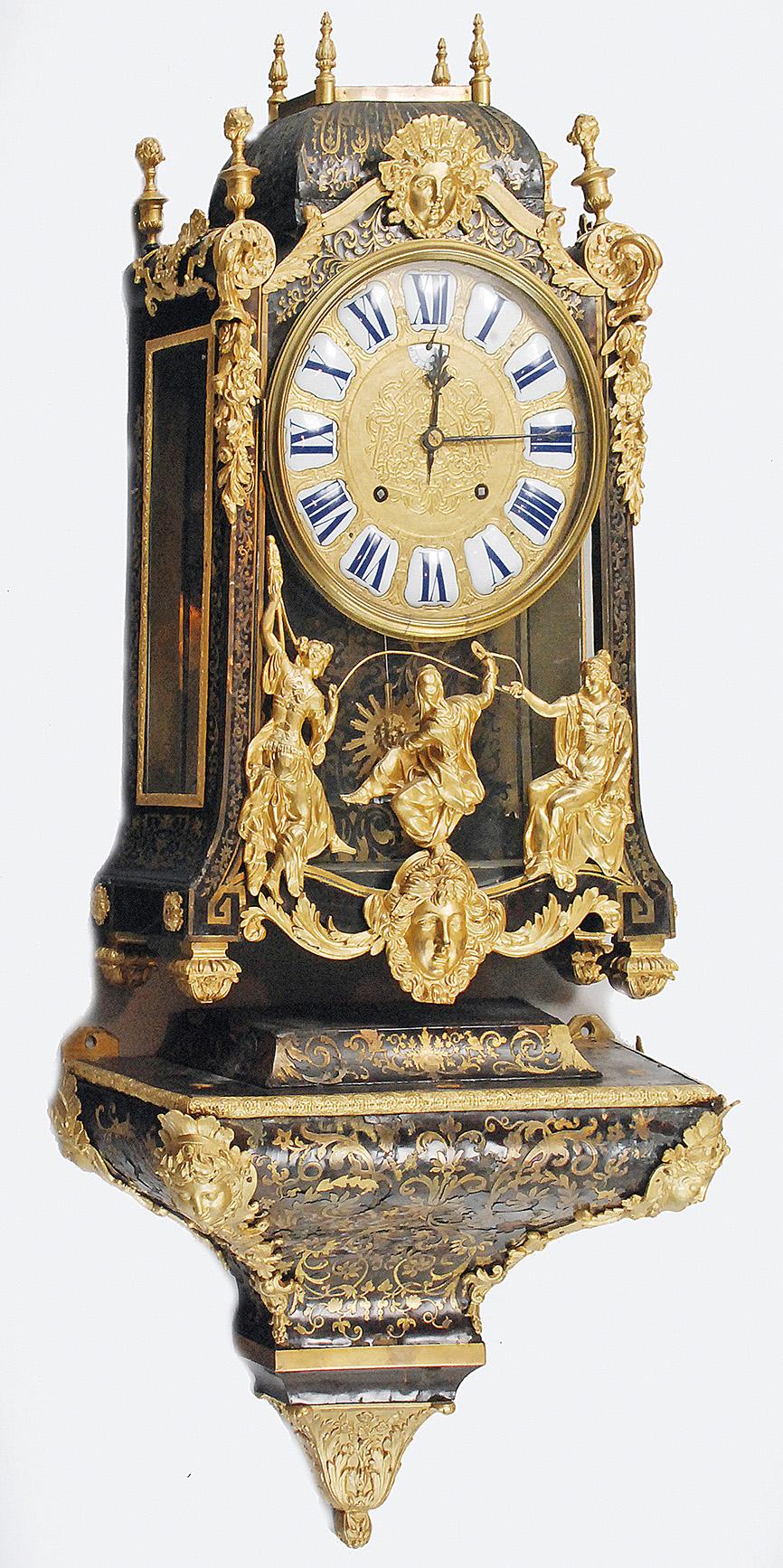 Zegar konsolowy w manierze Boulle'a