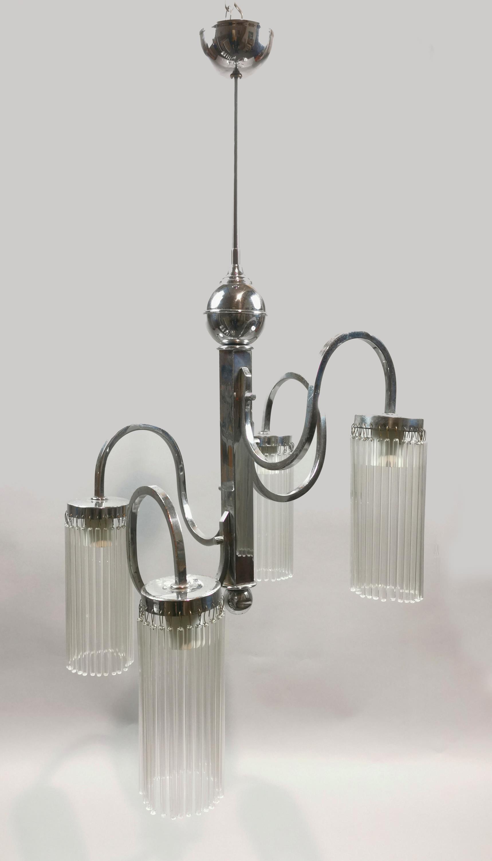 Lampa wisząca art déco, elektryczna