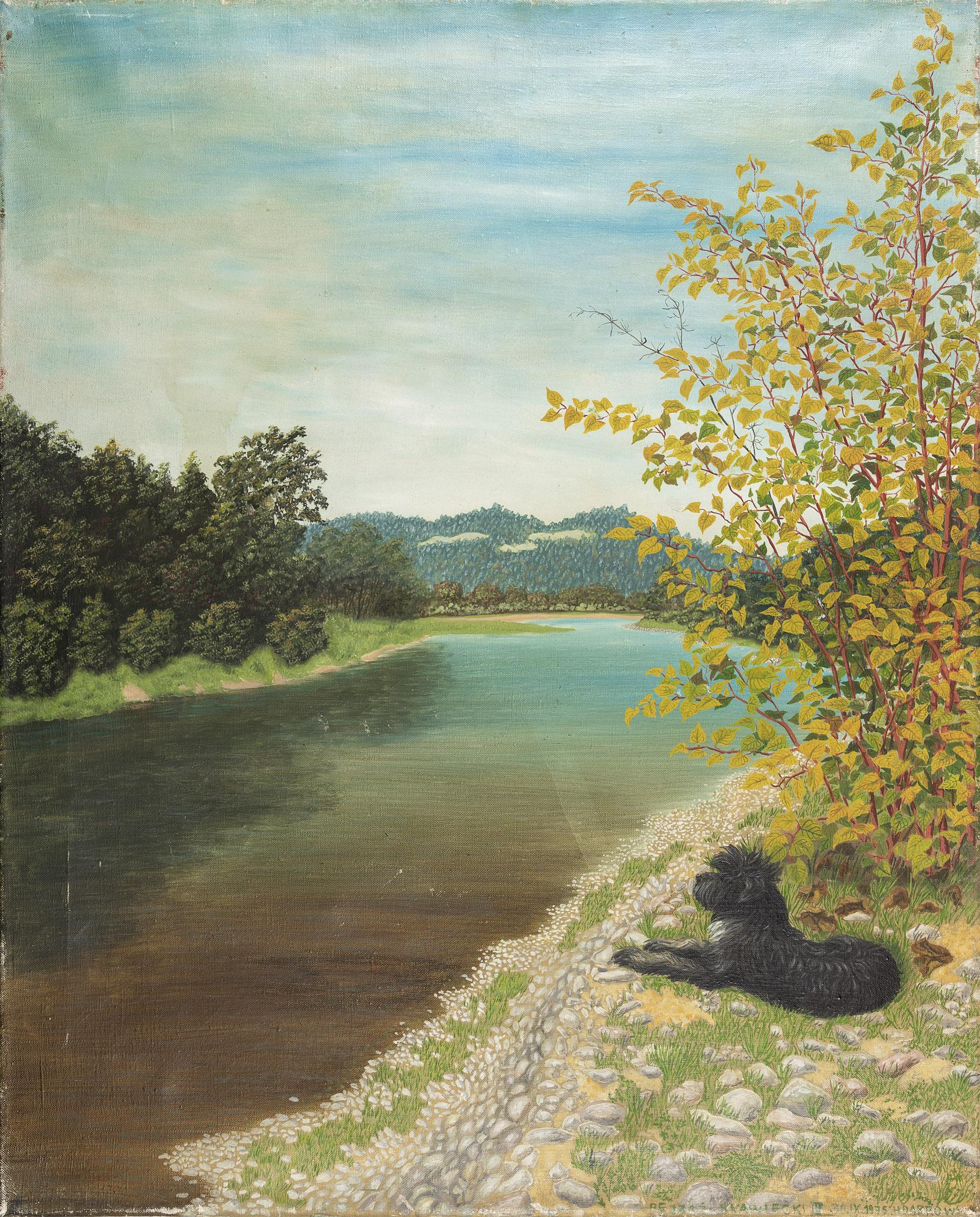 Pejzaż skawecki [z nad Skawy], 1976