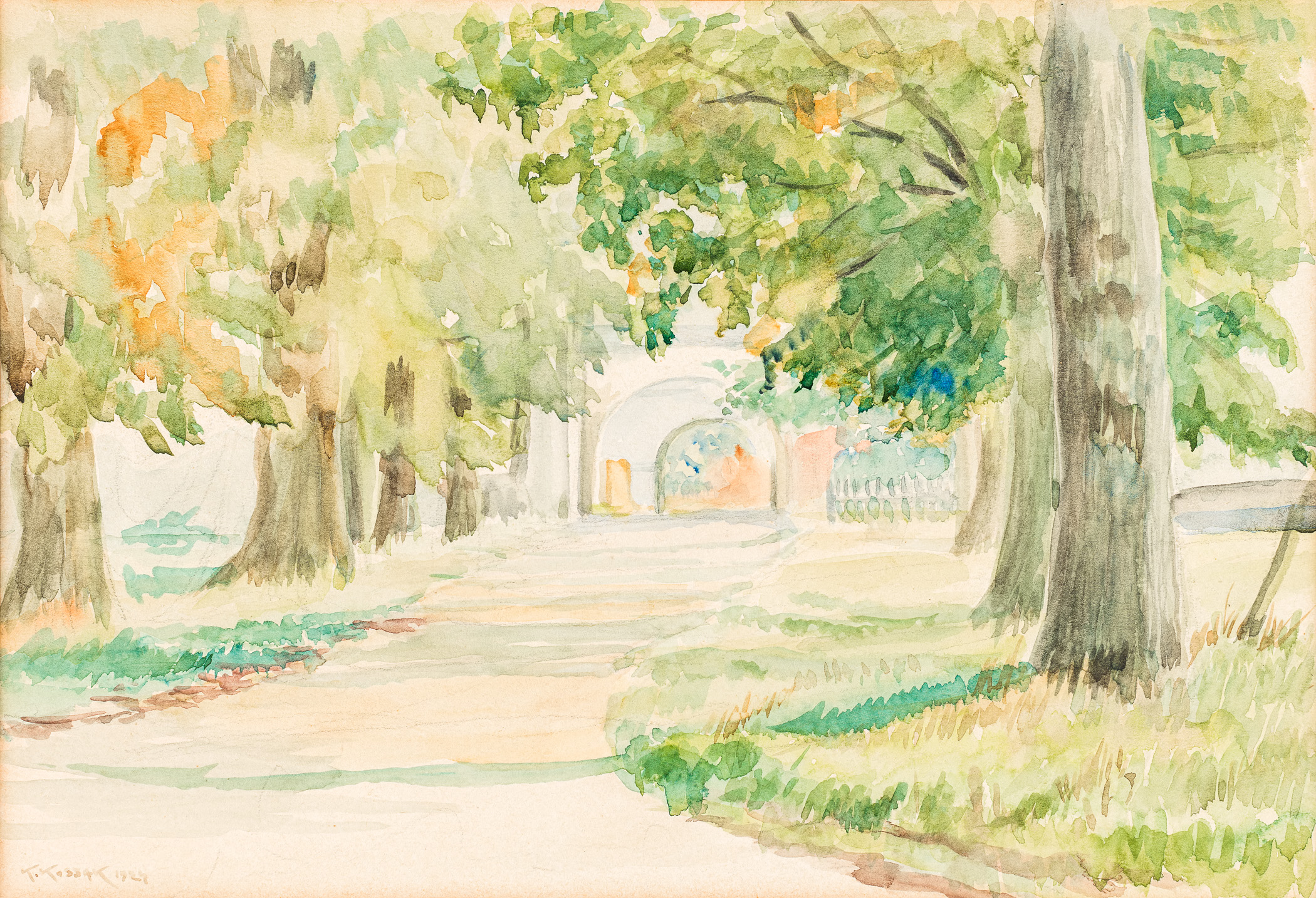 Aleja do klasztoru, 1924