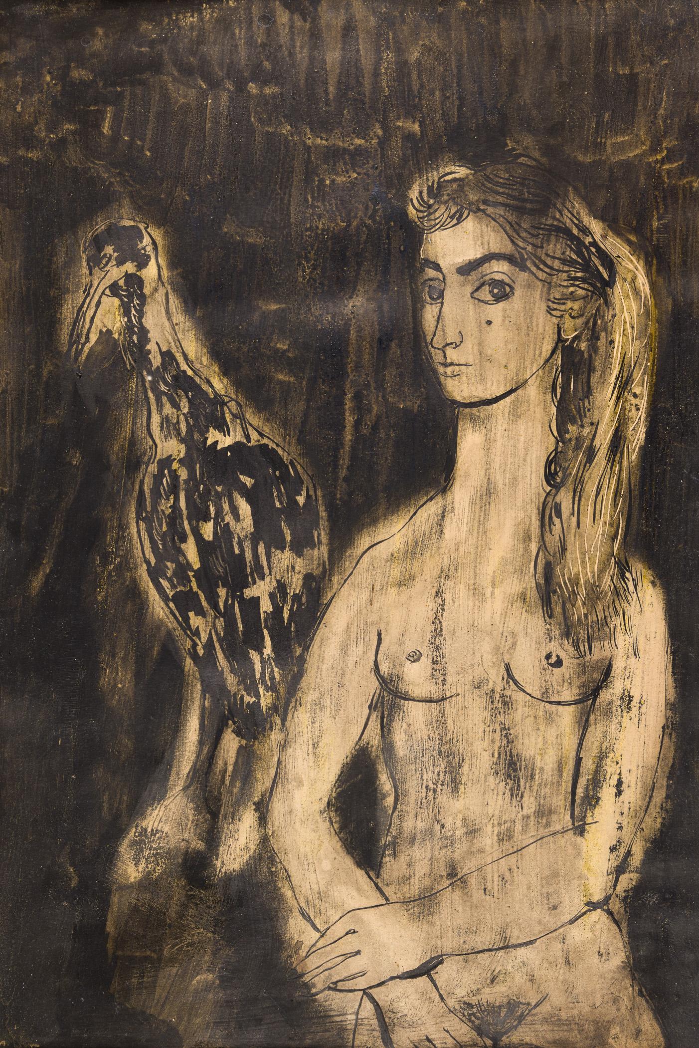 Dziewczyna z ptakiem, 1959