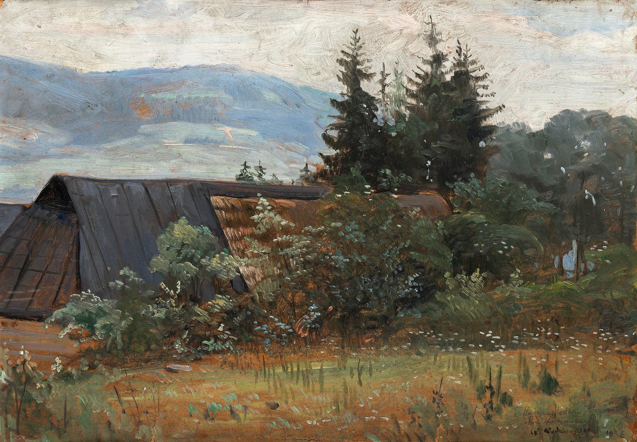Szałasy w górach, lata 20. XX w.
