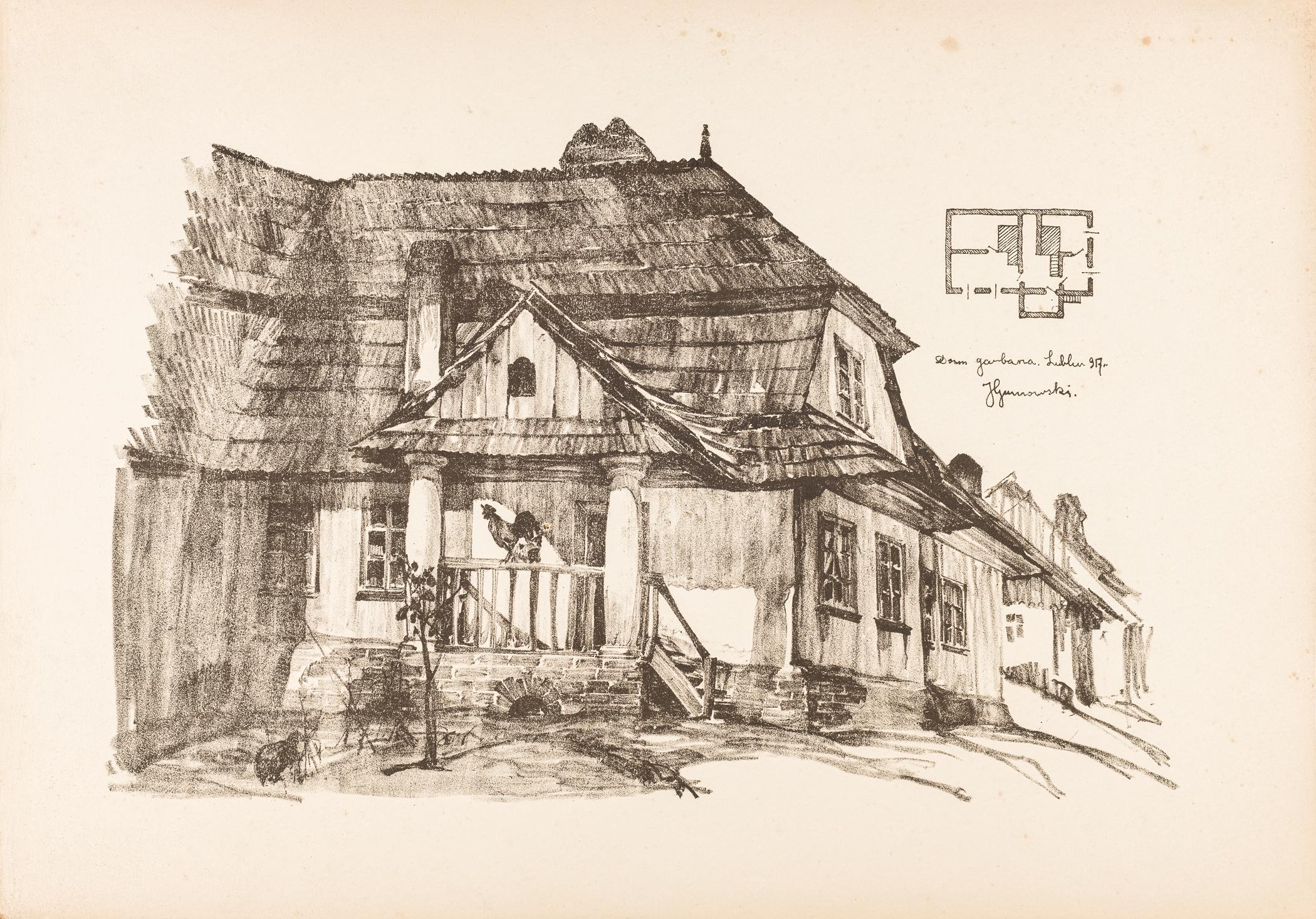 Lublin. Dom grabarza, 1917