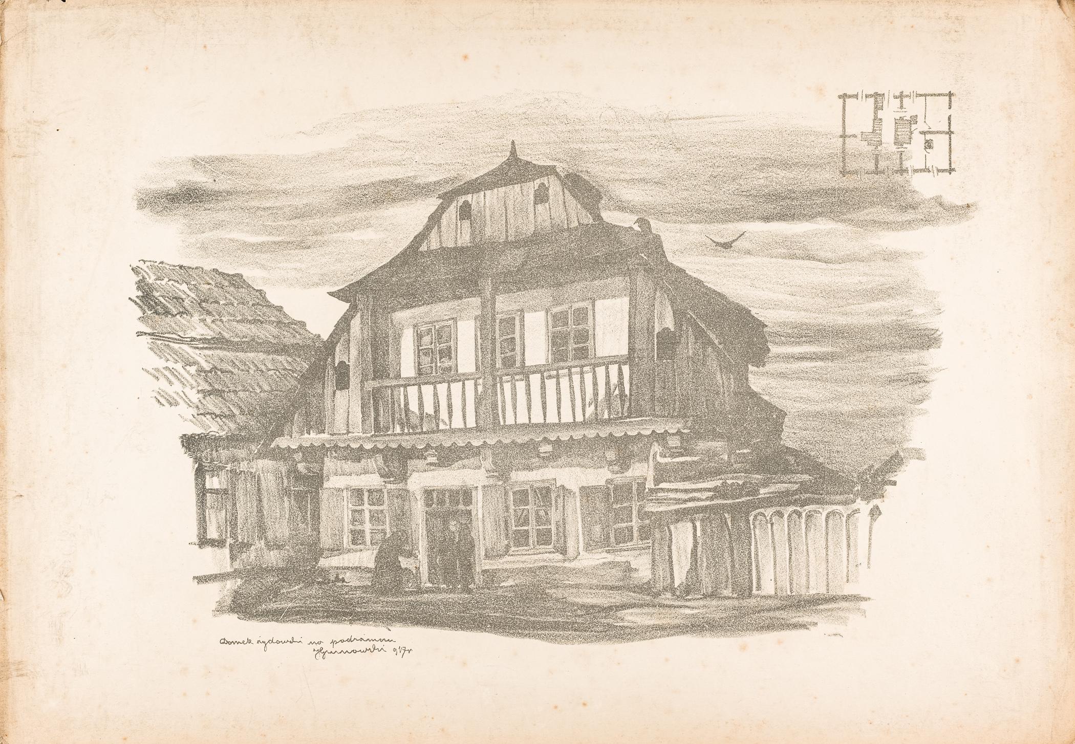 Lublin. Domek żydowski na Podzamczu, 1917