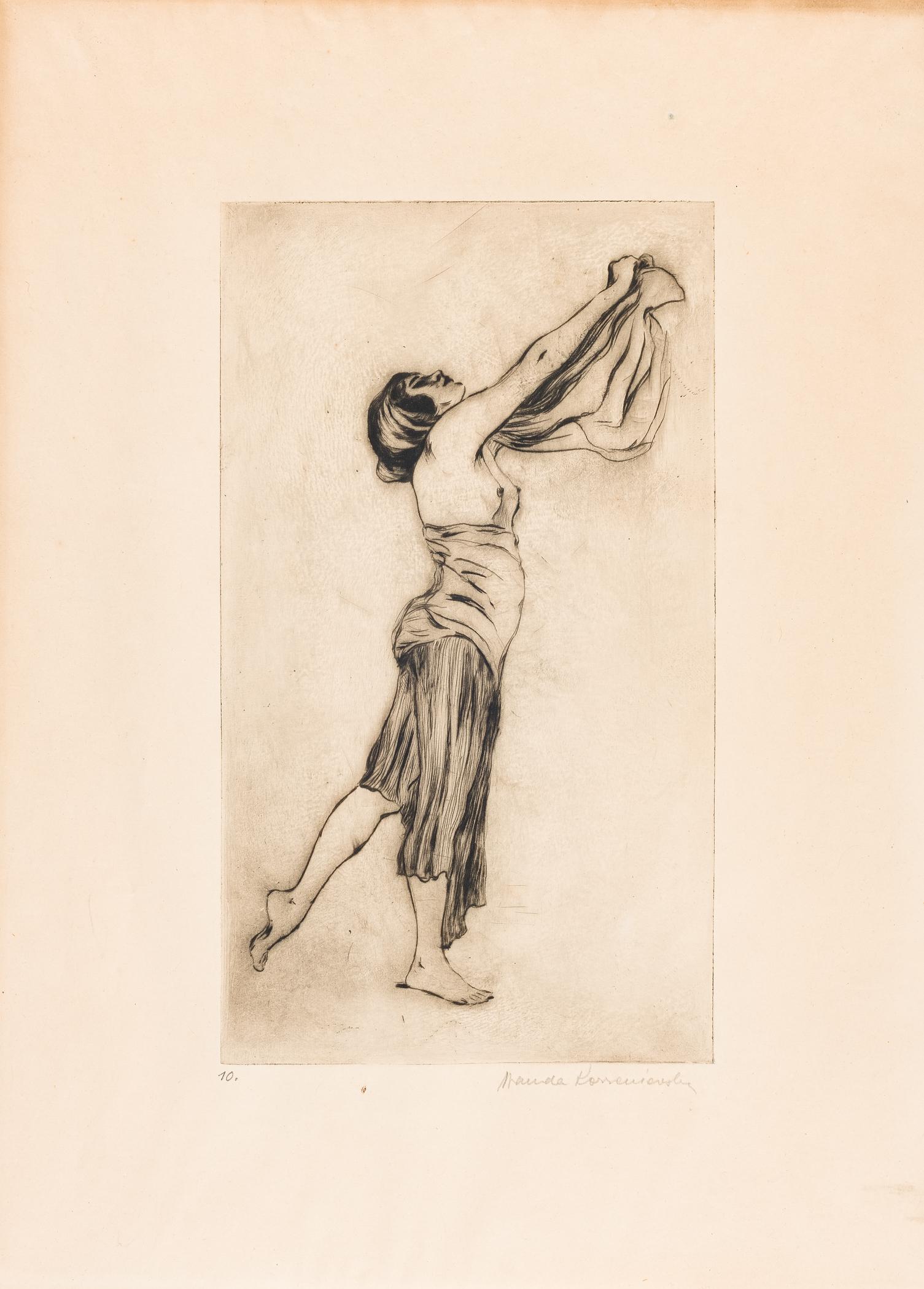 Tańcząca z szalem, ok. 1914