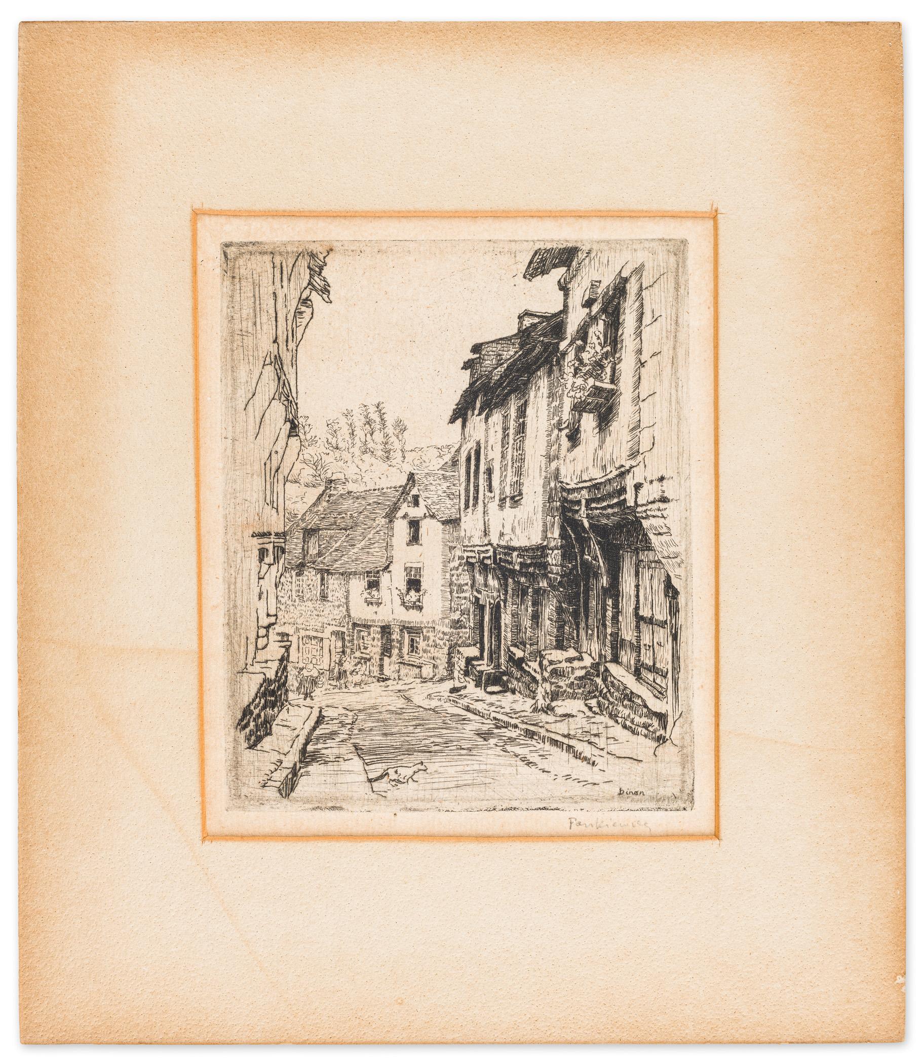 Ulica Dinan (z kotem) w Jerzual, 1906