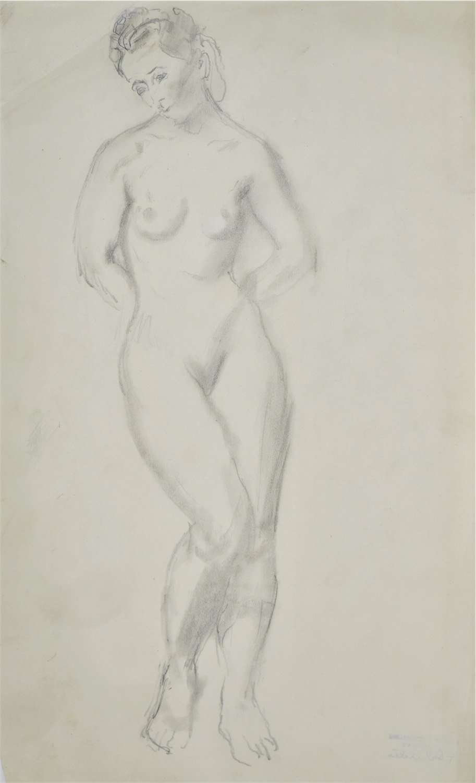 Akt stojącej kobiety, 1941
