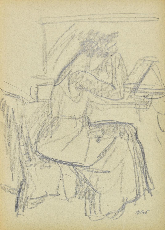 Renia upinająca włosy przed lustrem, 1909