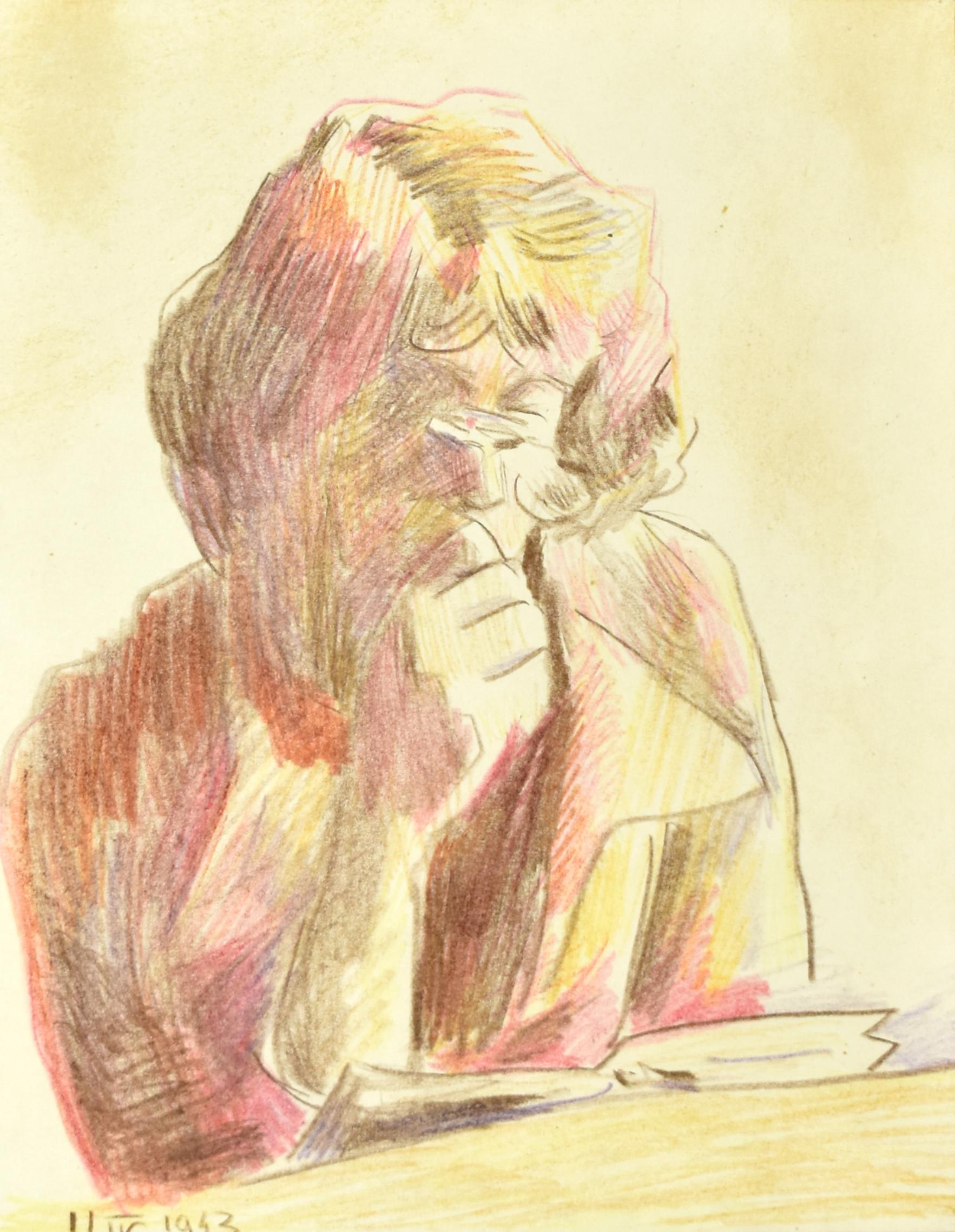 Kobieta czytająca książkę, 11 IV 1943