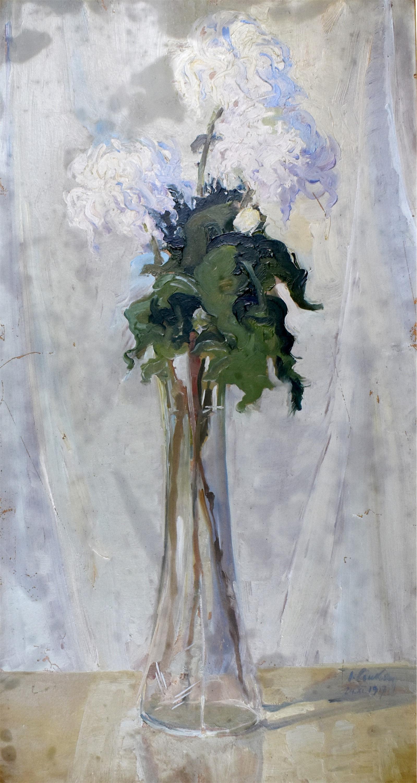 Kwiaty w wazonie, 1917