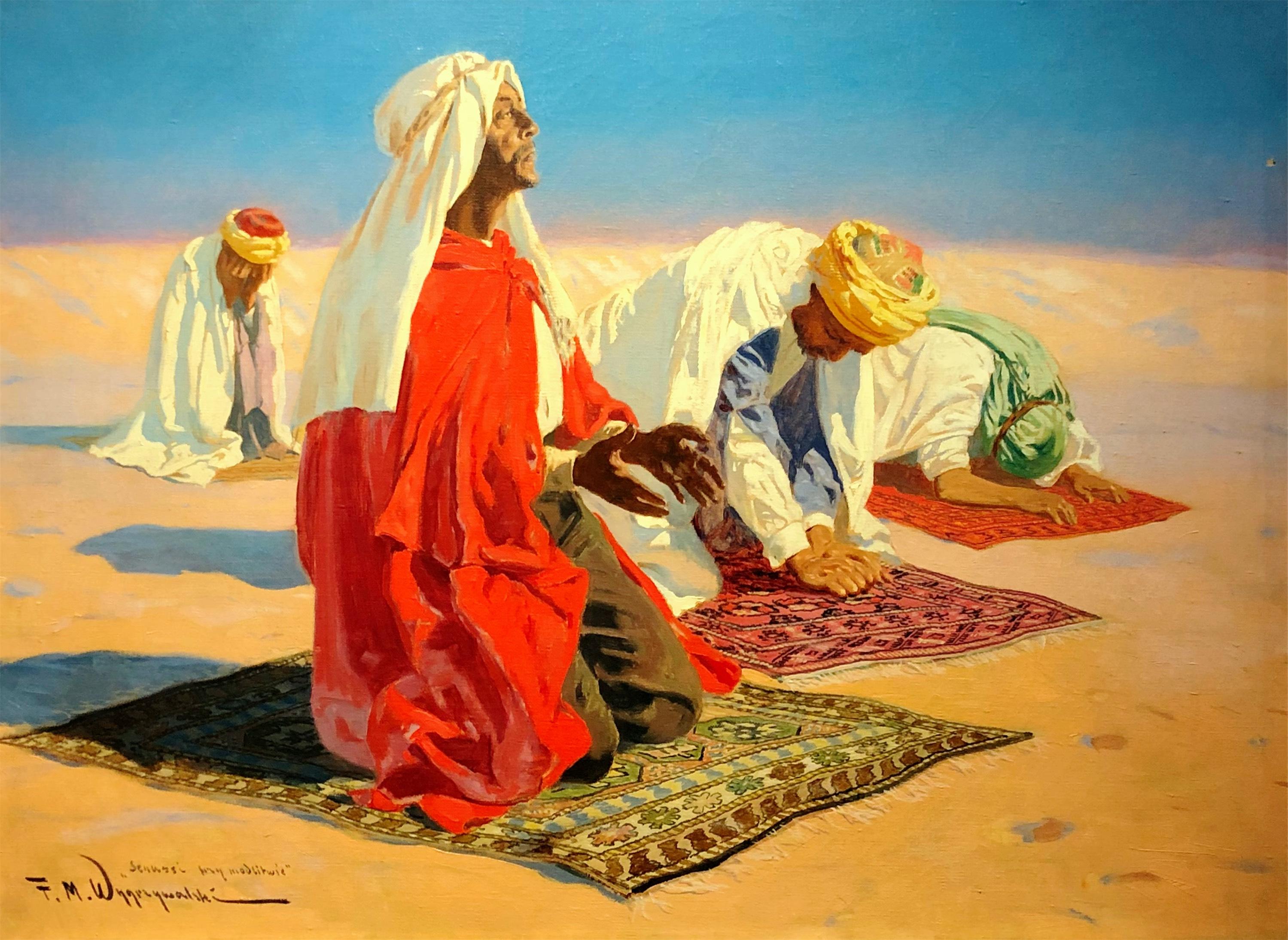 Senussi przy modlitwie