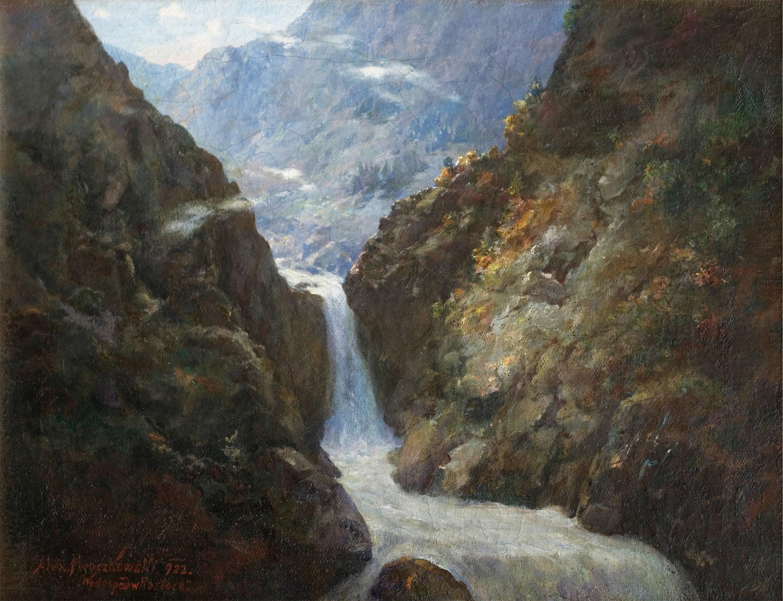 Wodospad w Roztoce, 1922
