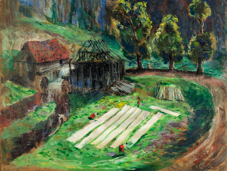 Bielenie płótna, 1935