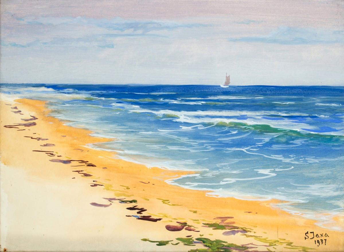 Bałtycka plaża, 1937
