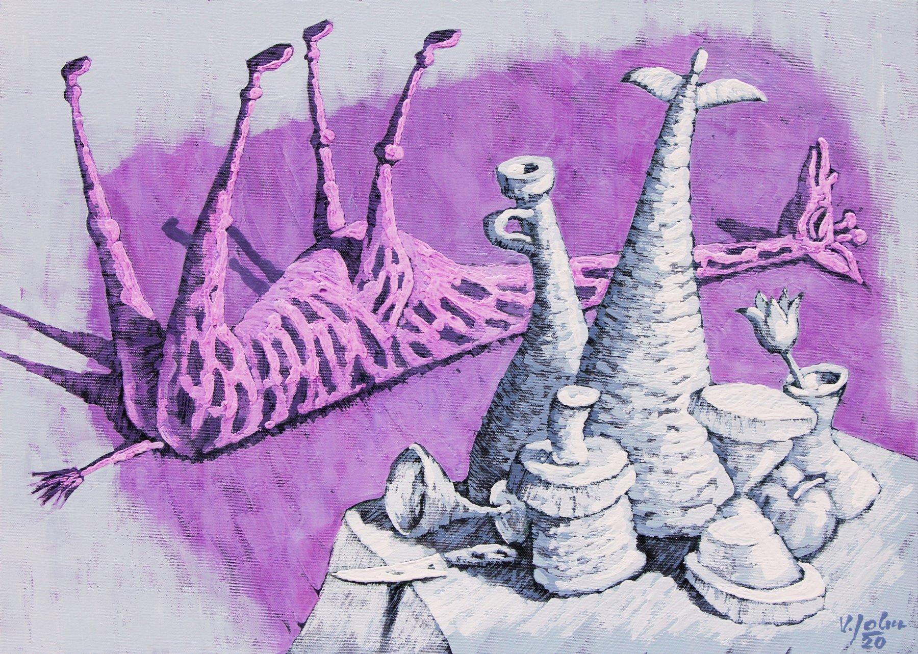 Zátiší se spící i žirafou
