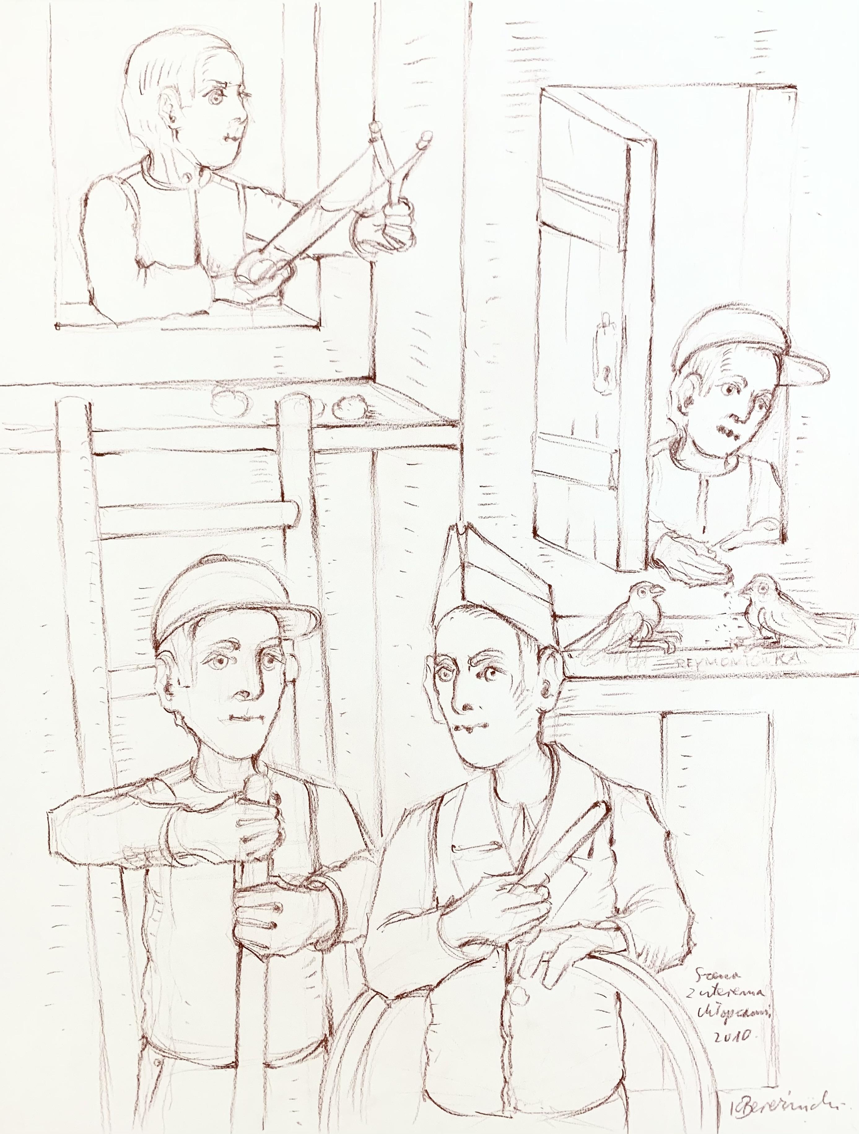 Scena z czterema chłopcami