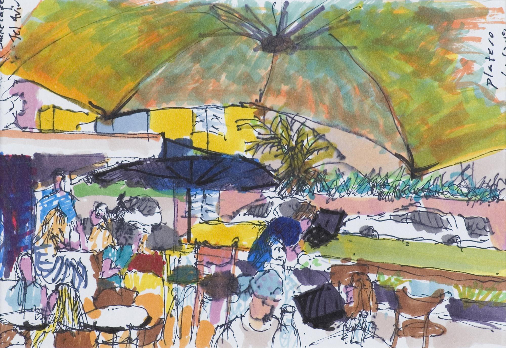 Kawiarnia w Tel Awiwie, 2019