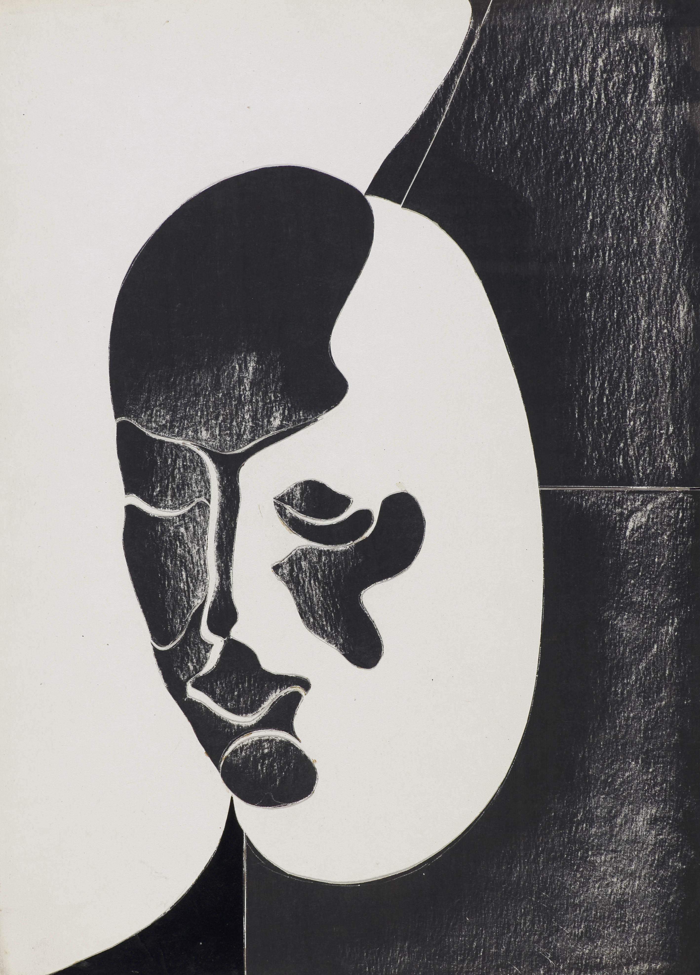 """Głowa z cyklu """"Świtłoformy"""", lata 70 XX w."""