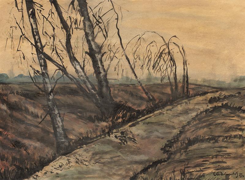 Drzewa na wietrze, 1914 r.