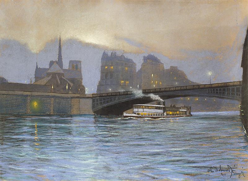 Paryż nocą, 1912 r.